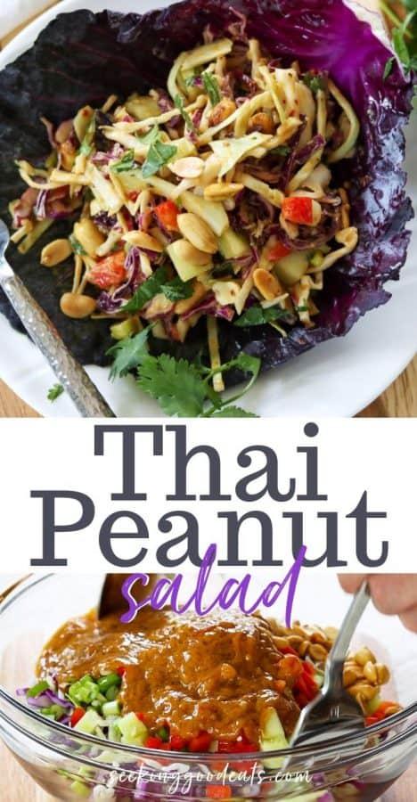 Thai Peanut Salad (Low Carb Keto)