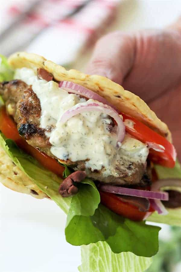 The Best Greek Burger (Gyro Burger)