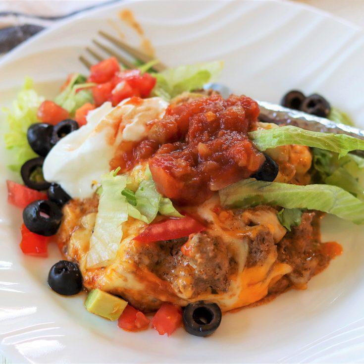 Zucchini Ground Beef Taco Casserole, Seeking Good Eats