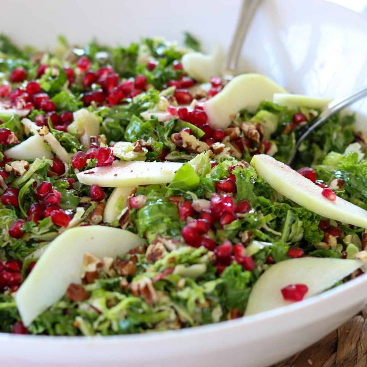 kale and brussel sprout salad, Seeking Good Eats