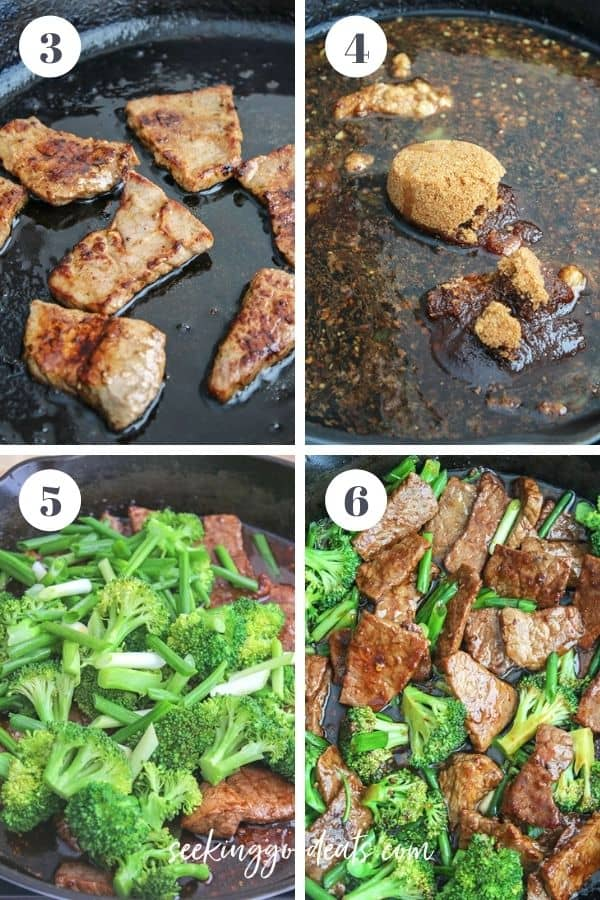 4 part image depicting how to make steps 3 to 6. Please see recipe card for full recipe instructions.