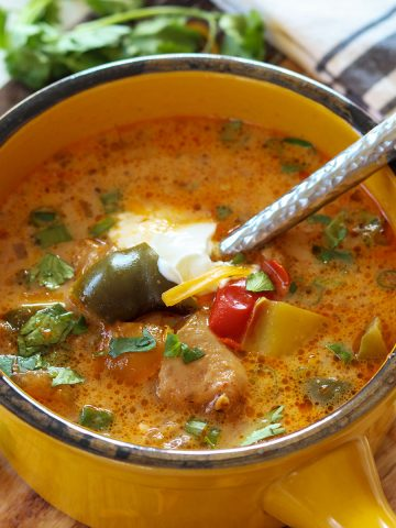 Crockpot Chicken Fajita Soup, Seeking Good Eats