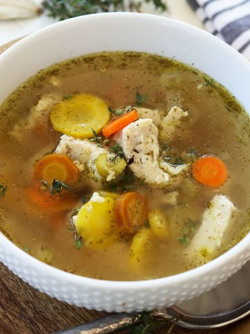 Low Carb Keto Instant Pot Chicken Soup, Seeking Good Eats
