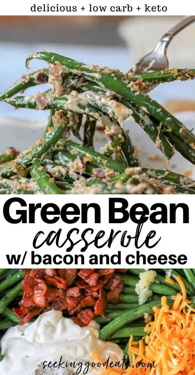 Green bean casserole with bacon, Seeking Good Eats