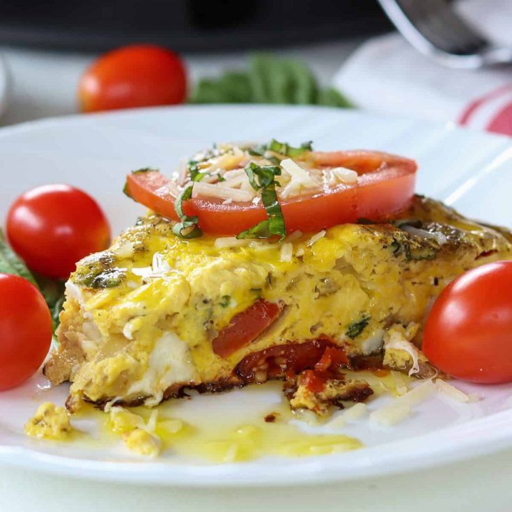 caprese frittata, Seeking Good Eats