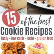 Pinterest pin featuring 4 tasty and healthy cookie recipes you'll love to make and eat!