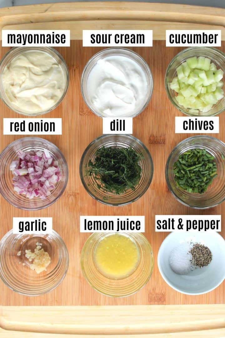 ingredients needed for making dill dressing