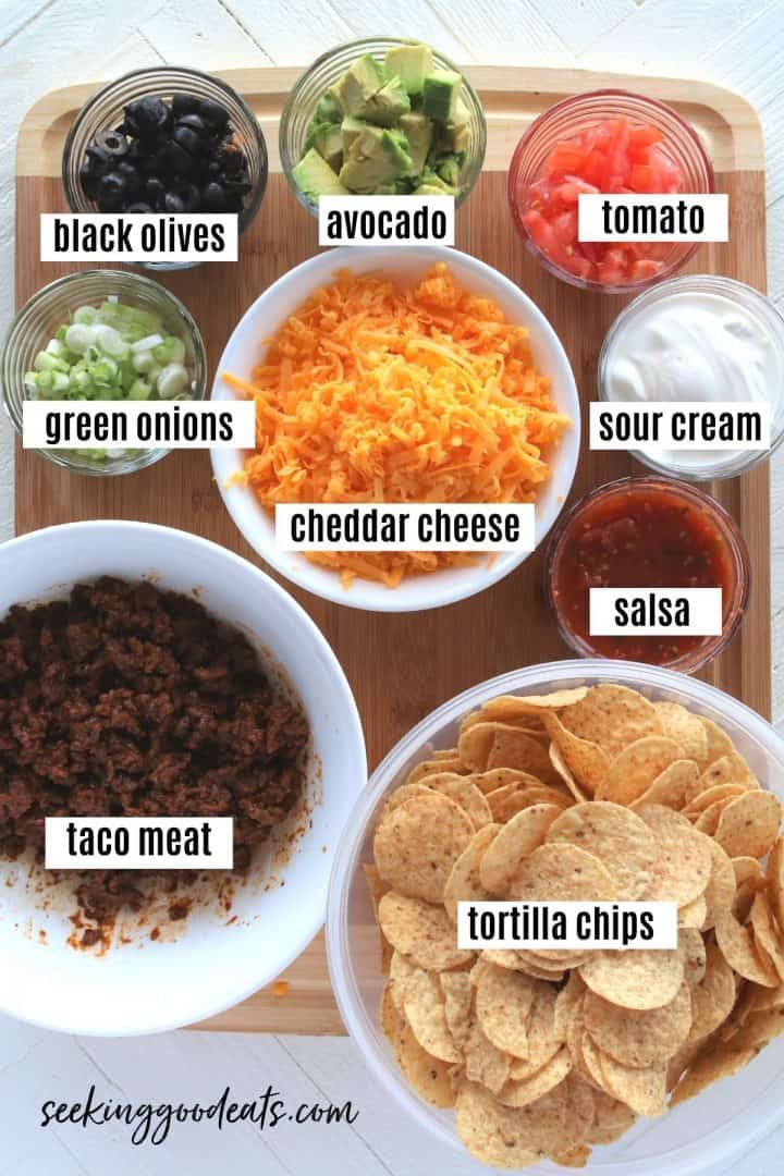 ingredients for making air fryer nachos