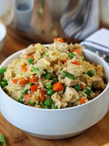 instant pot chicken fried rice, Seeking Good Eats