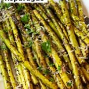 fried asparagus spears garnished with parmesan