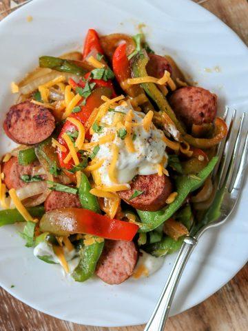 Cajun Keto Sausage and Peppers, Seeking Good Eats