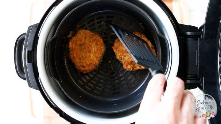 air frying salmon patties