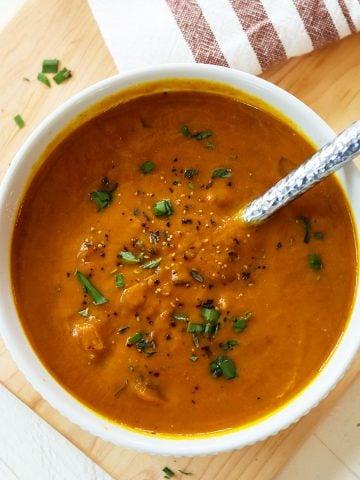 Pumpkin soup in the slow cooker, Seeking Good Eats